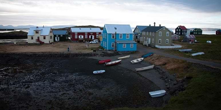Flatey island in North of Iceland