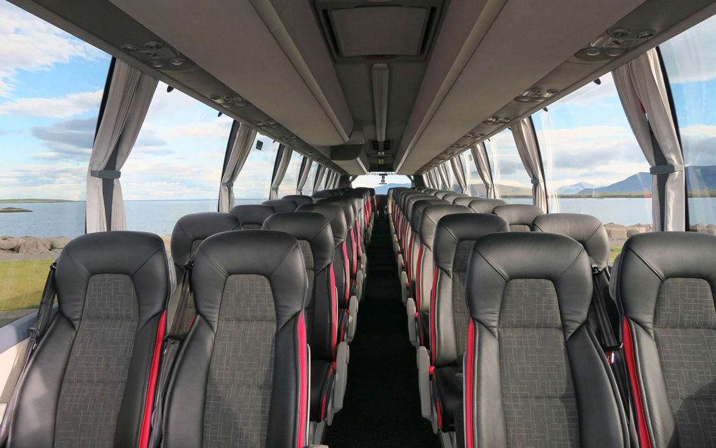 Airport coach Keflavik in Iceland