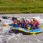 Family rafting in Iceland