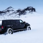 Super Jeep on the glacier in Iceland
