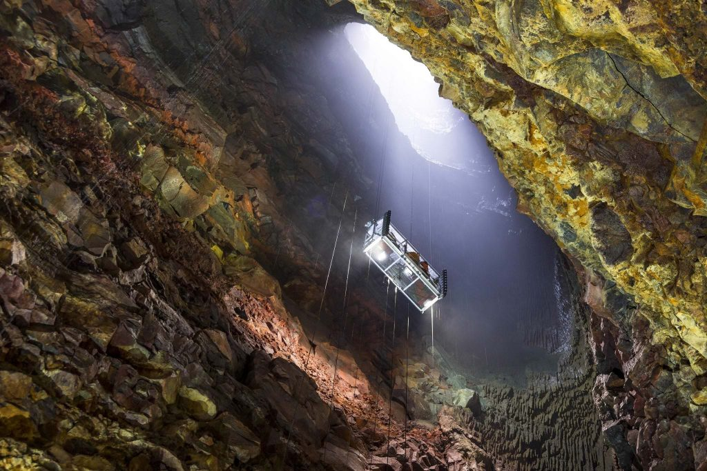 into the volcano caving tour