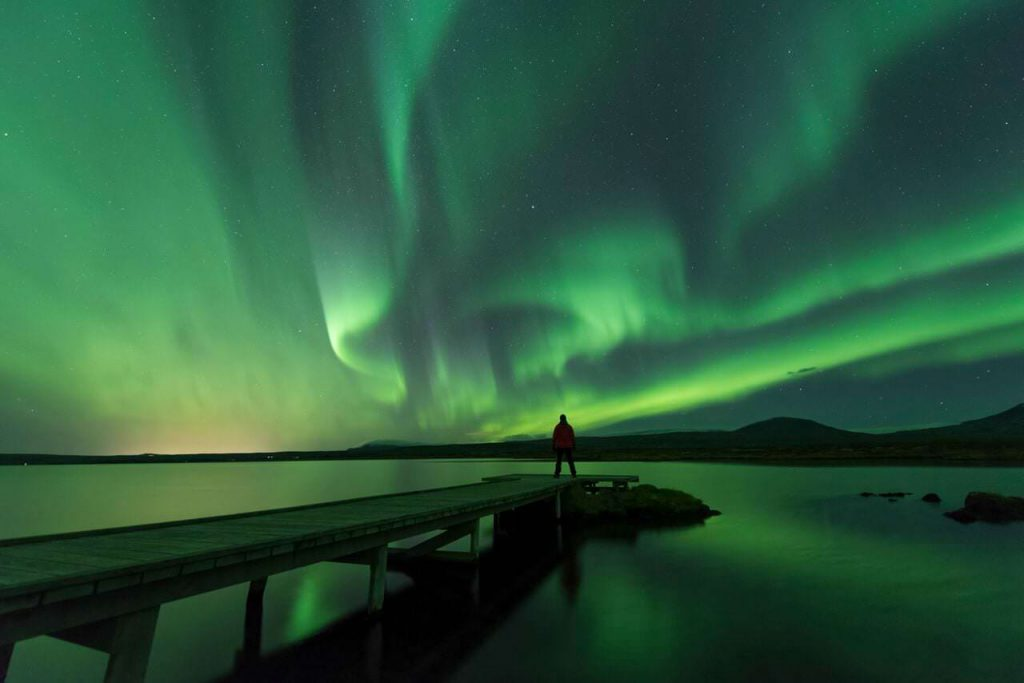 Aurora lights, Iceland