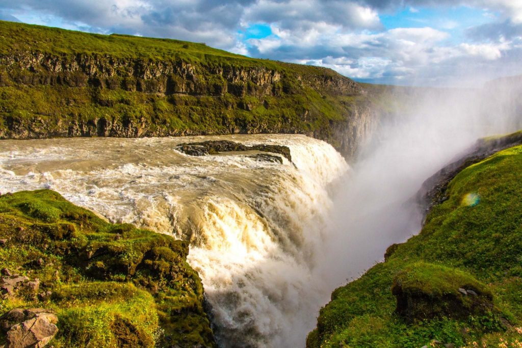 Golden Falls Gullfoss in Iceland