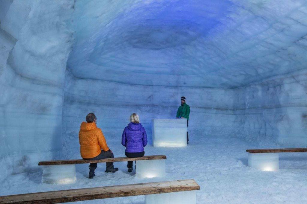 Langjokull Ice cave in Iceland