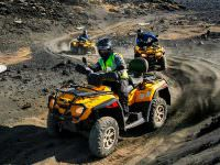 quad biking tour on lava fields