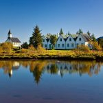 Reflections in ingvellir National Park, South Iceland