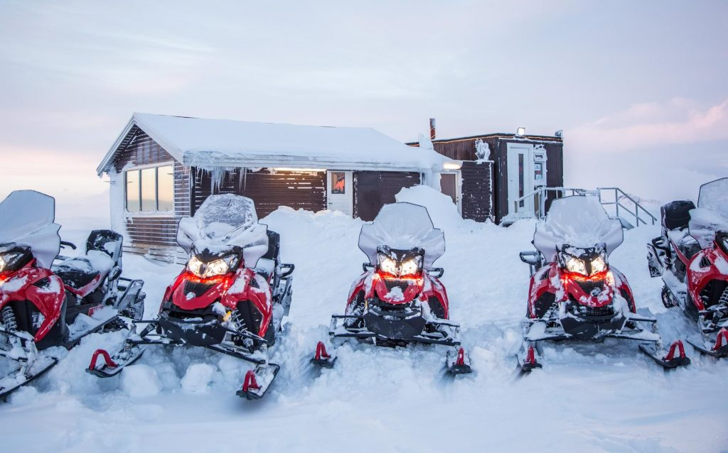 Snowmobile in Iceland