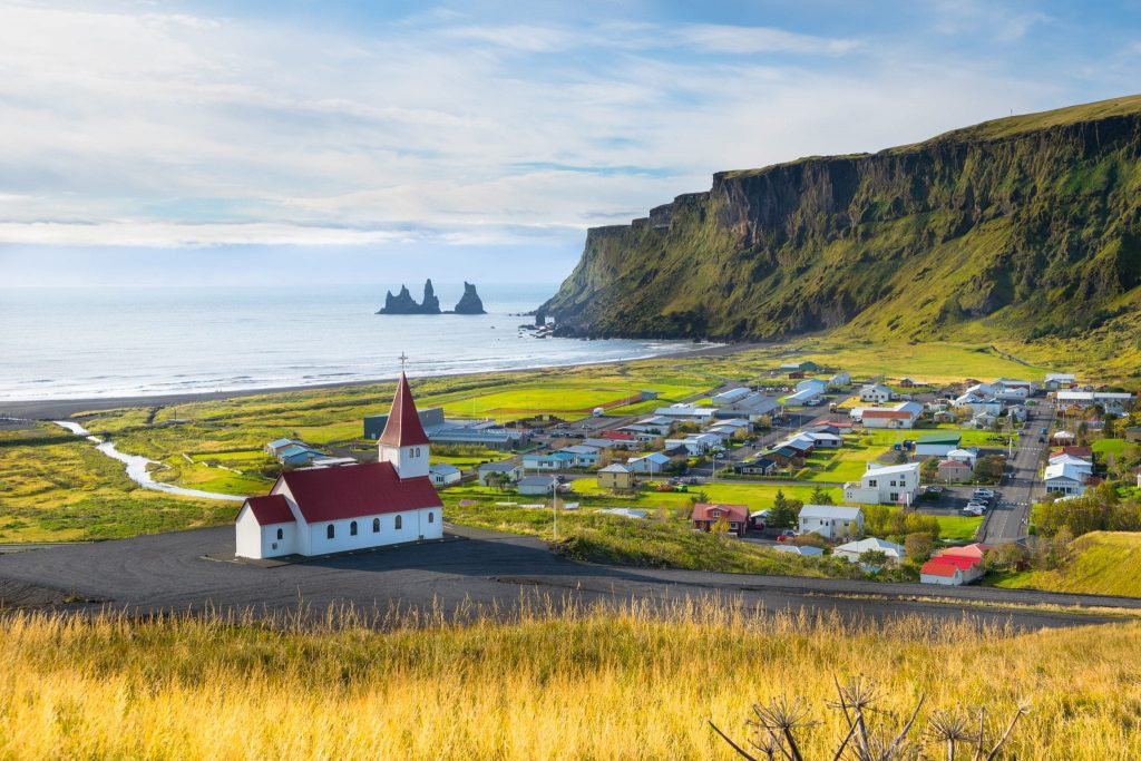 Village of Vik in South Iceland