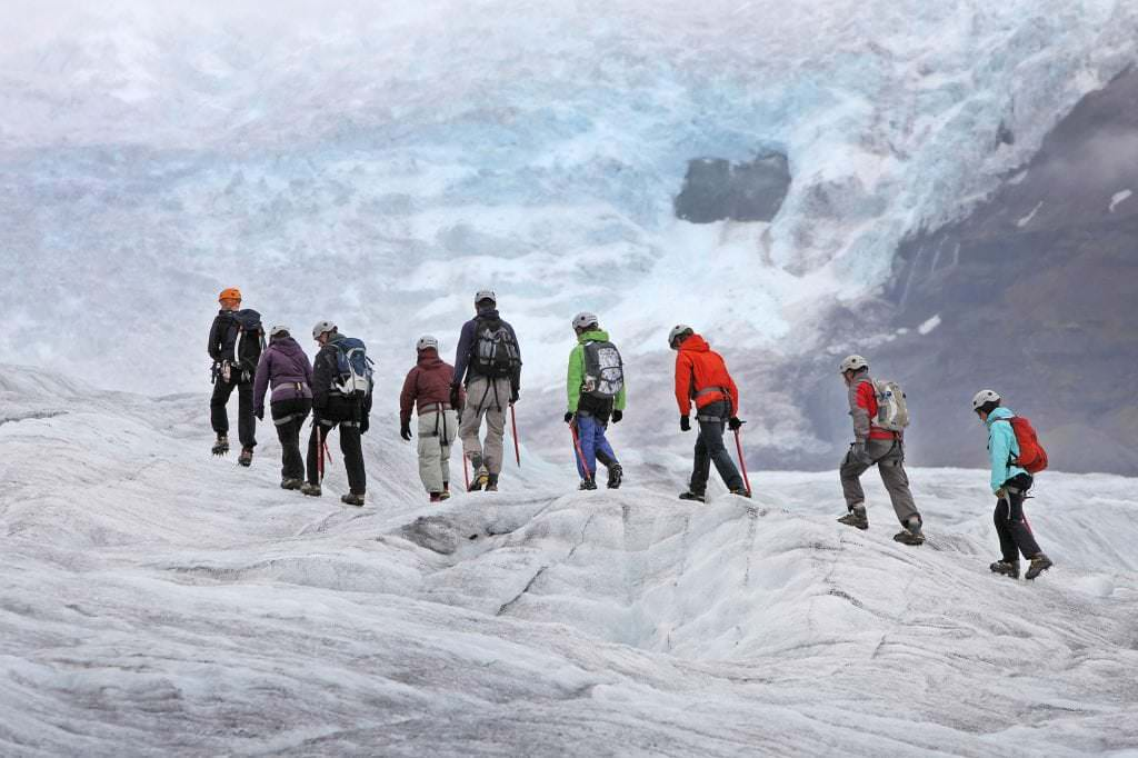 Glacier hiking tour skaftafell in Iceland