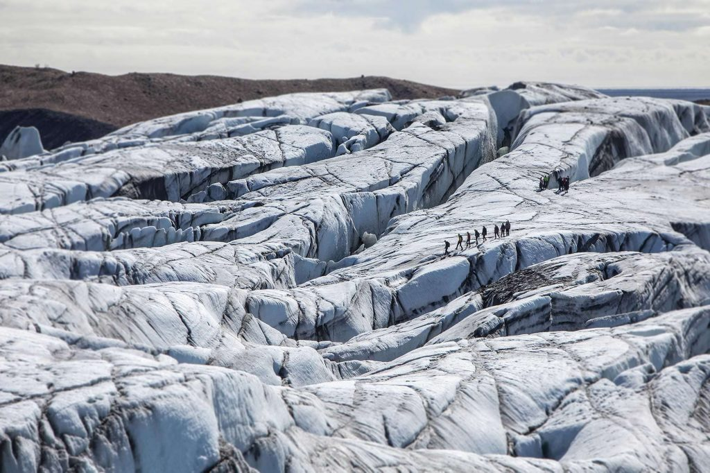 Glacier walk in South East Iceland