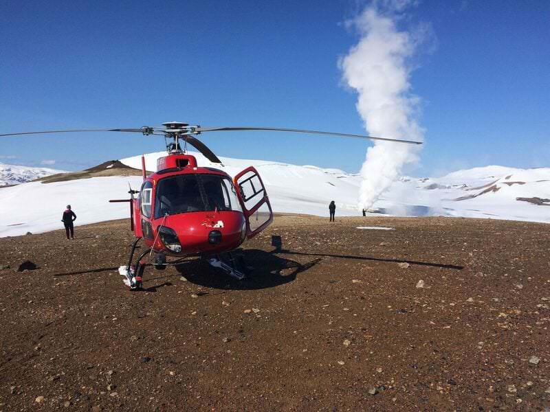 Helicopter tour in Iceland