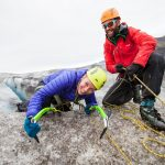 Ice climbing in Skaftafell, South East Iceland