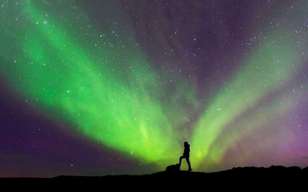 Aurora hunting, Iceland