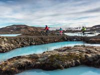 biking around the Blue Lagoon