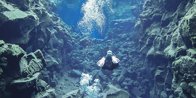 Diving in Silfra Fissure