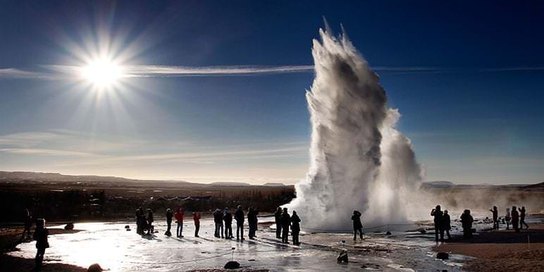 Geysir Hot Spring in Iceland