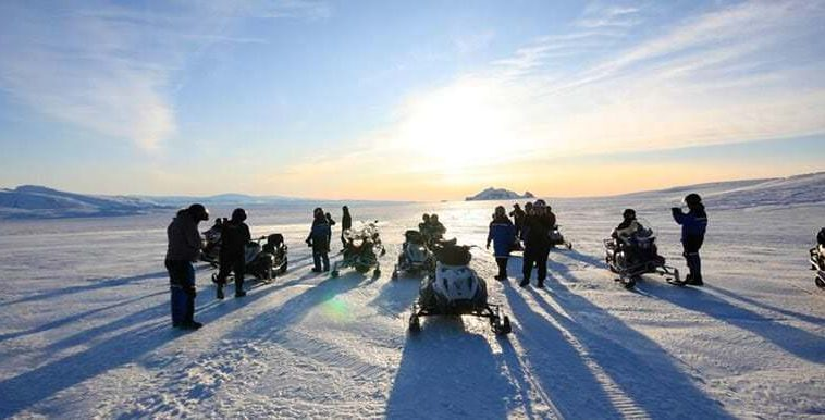 glacier snowmobiling