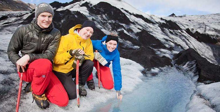 Glacier Walk In Iceland