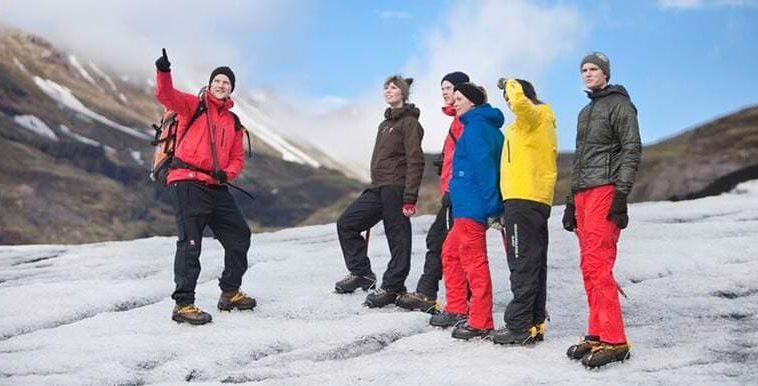 Glacier walk group