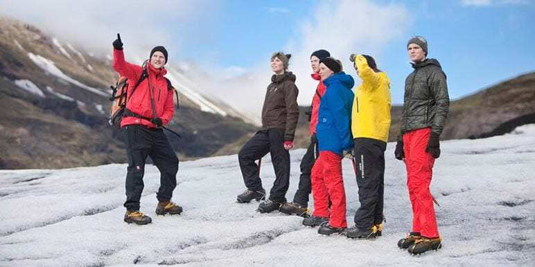 Glacier walk group
