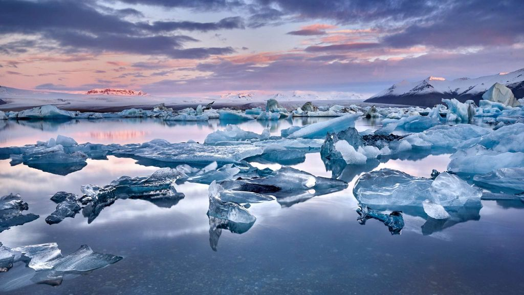 Iceland Glacier lagoon, South East Iceland