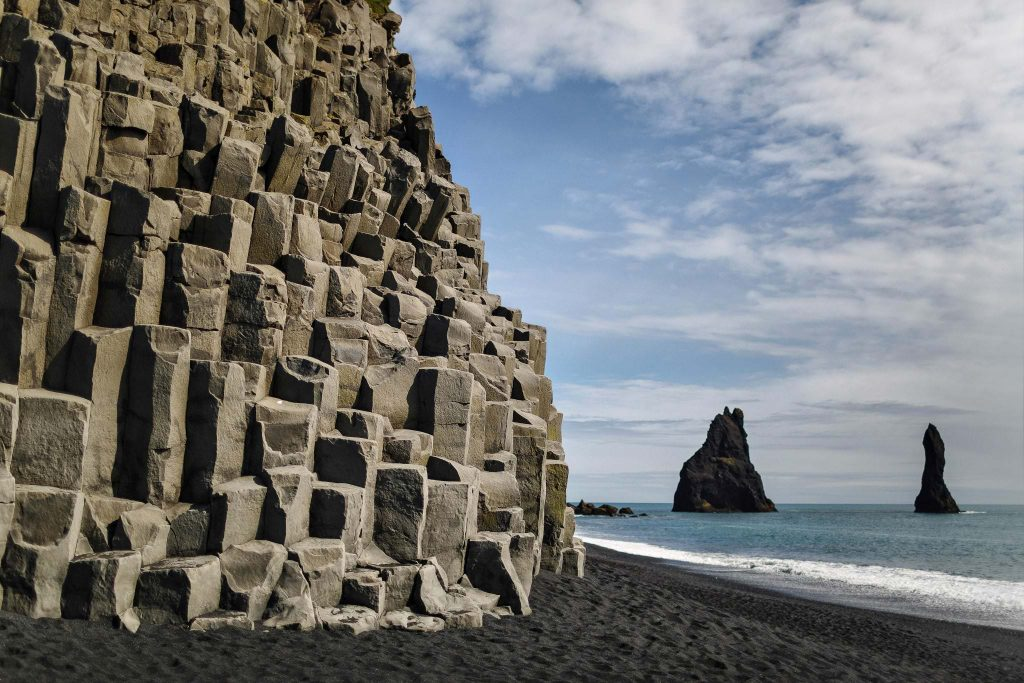 Reynisfjara black sand beach in South coast of Iceland