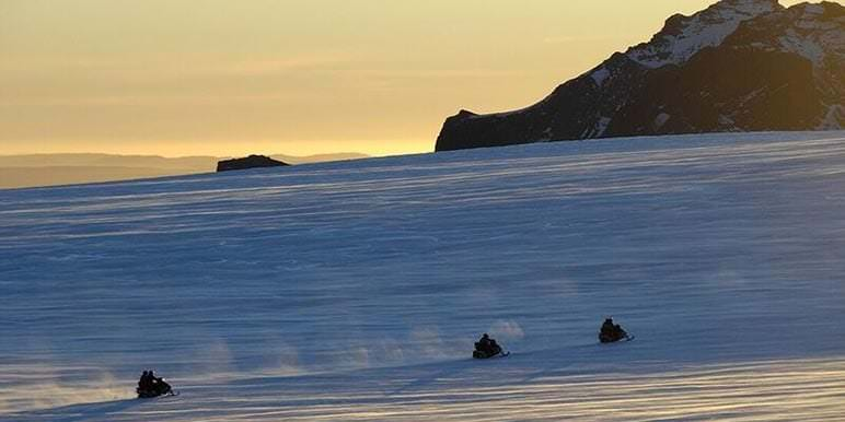 Snowmobiling on a Glacier Iceland