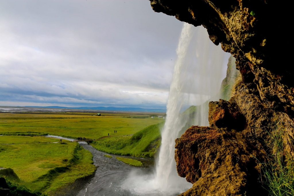 waterfalls in South coast Iceland