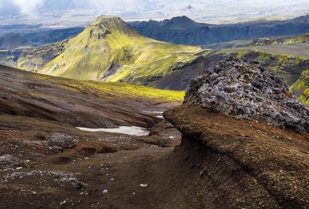 Trekking fimmvorduhals from Skogarfoss to Thorsmork