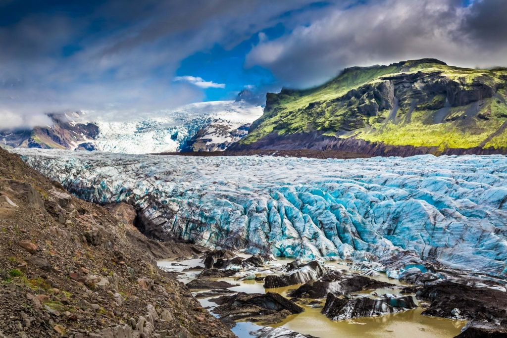 Vatnajokull glacier, south coast of iceland