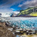 Vatnajokull glacier, south coast of iceland