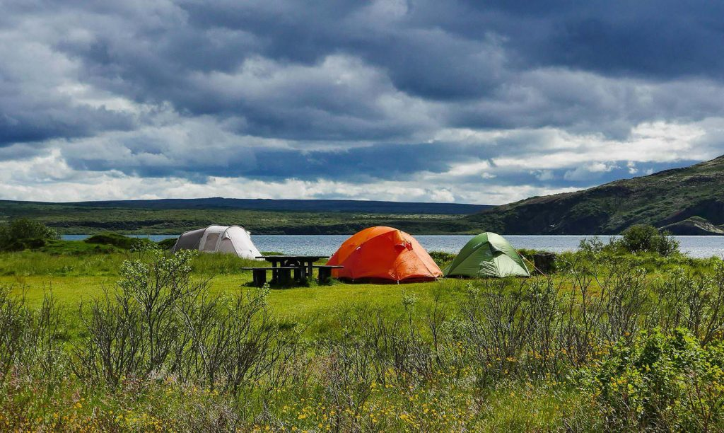 Family tents in Iceland