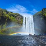 The Magnificent Skogarfoss Waterfall in the South Coast of Iceland