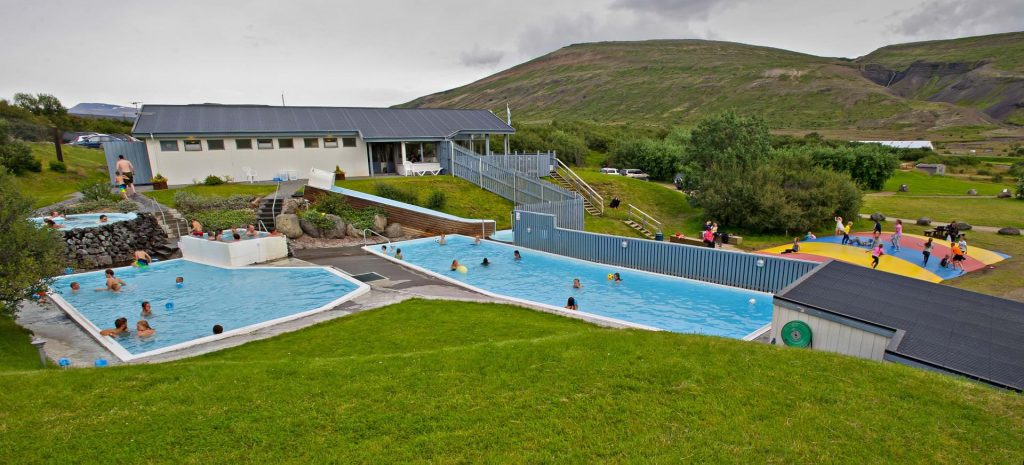 Geothermal swimming in West Iceland