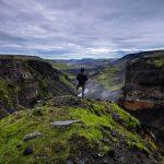 Hiking near Thorsmork, South Iceland