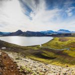 The popular hiking trail Laugavegur in the Highlands of South Iceland