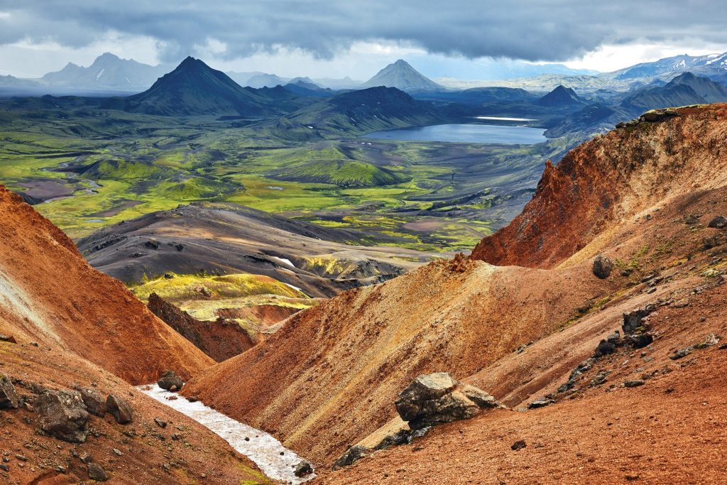 Laugavegur Hiking Trail in the Highlands, South Iceland