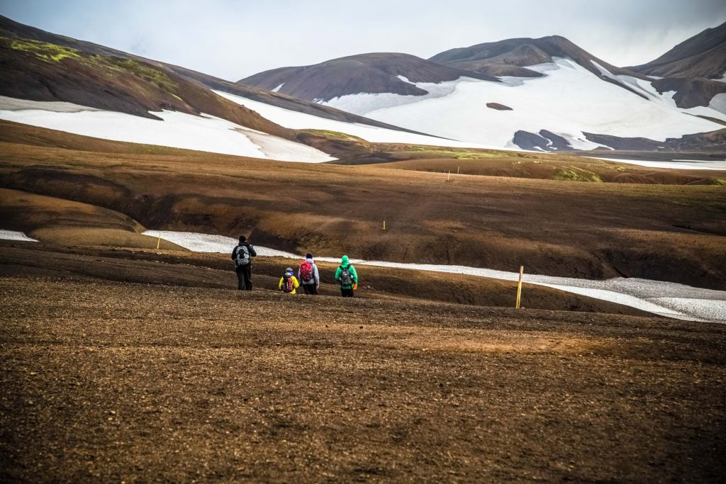 Laugavegur family hiking, Highlands of South Iceland
