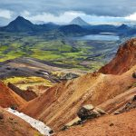 Laugavegur hiking trail in iceland from landmannalaugar to Thorsmork