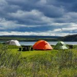 Tents in Thingvellir National Park, Iceland