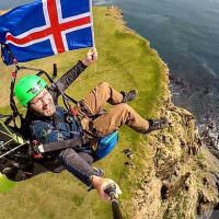 Paragliding Tandem Flight In Iceland