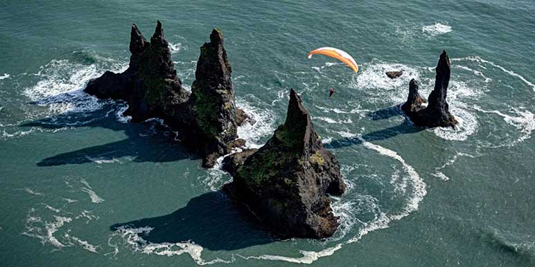 Paragliding South Iceland