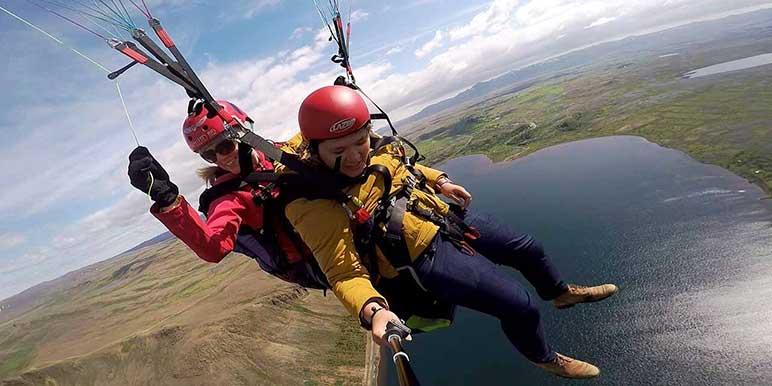 Paragliding Tandem Flight In Reykjavik