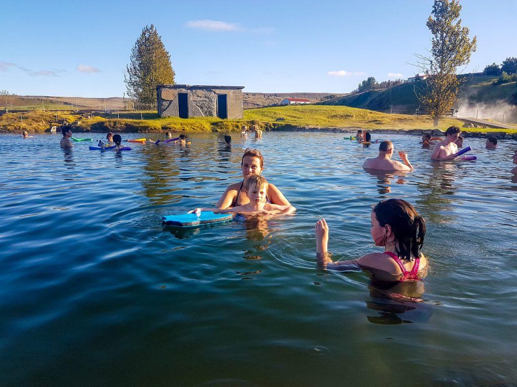 Secret Lagoon (Gamla Laugin) in Flúðir, South Iceland.