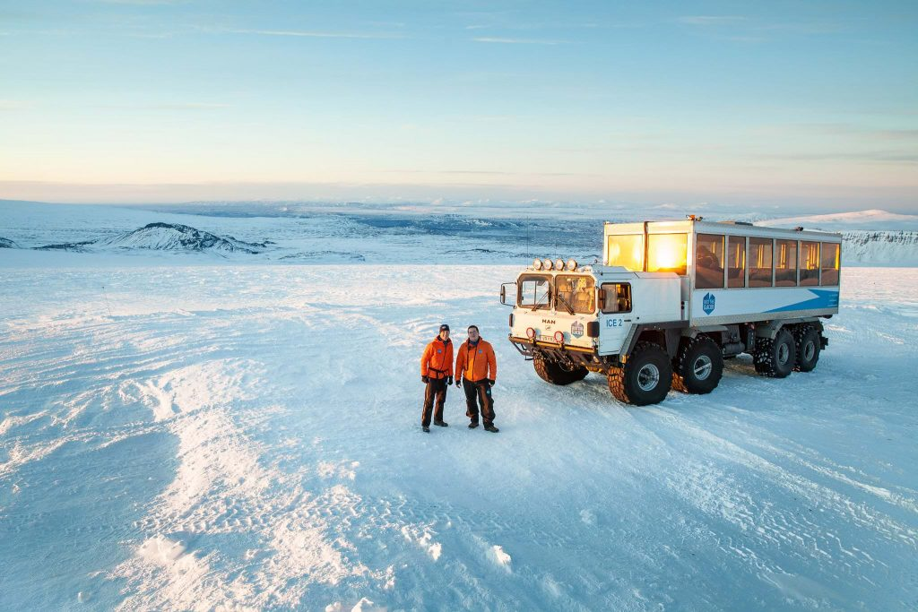 Ice cave truck in Iceland