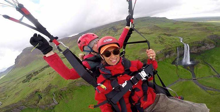 Paragliding Seljalandsfoss