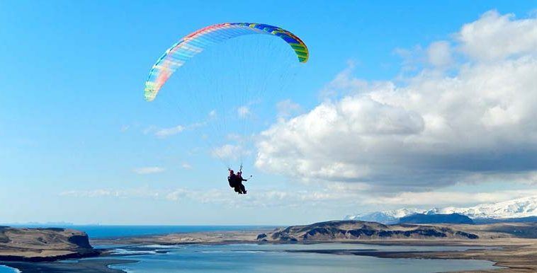 Paragliding Tandem Flight In Vík