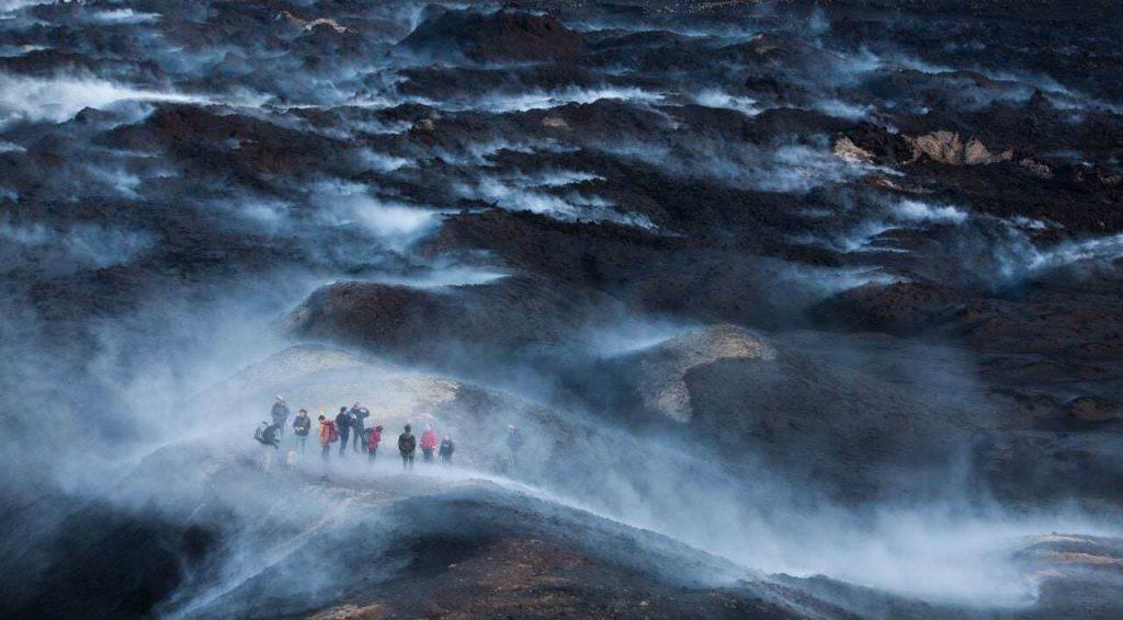 Fimmvorduhals Pass In Iceland