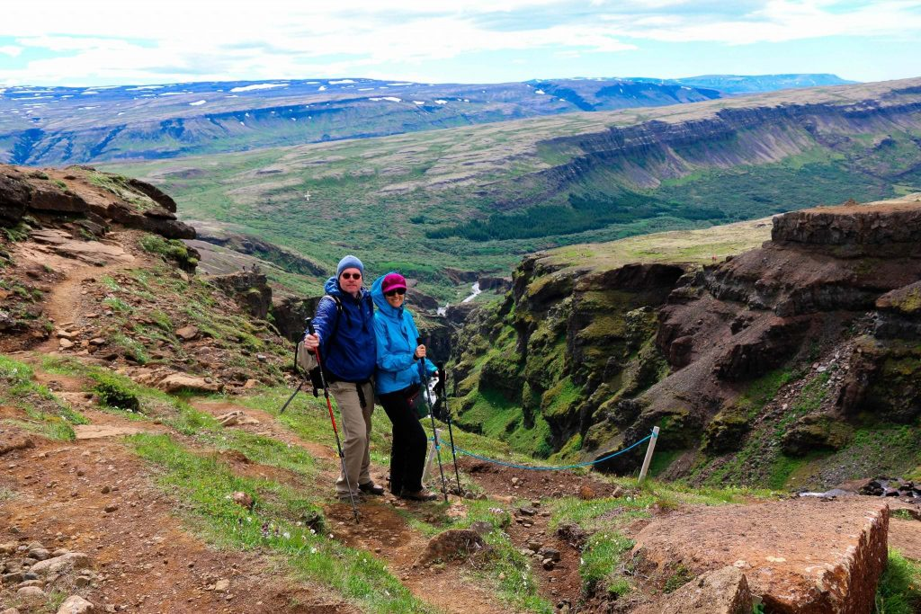 Glymur hiking