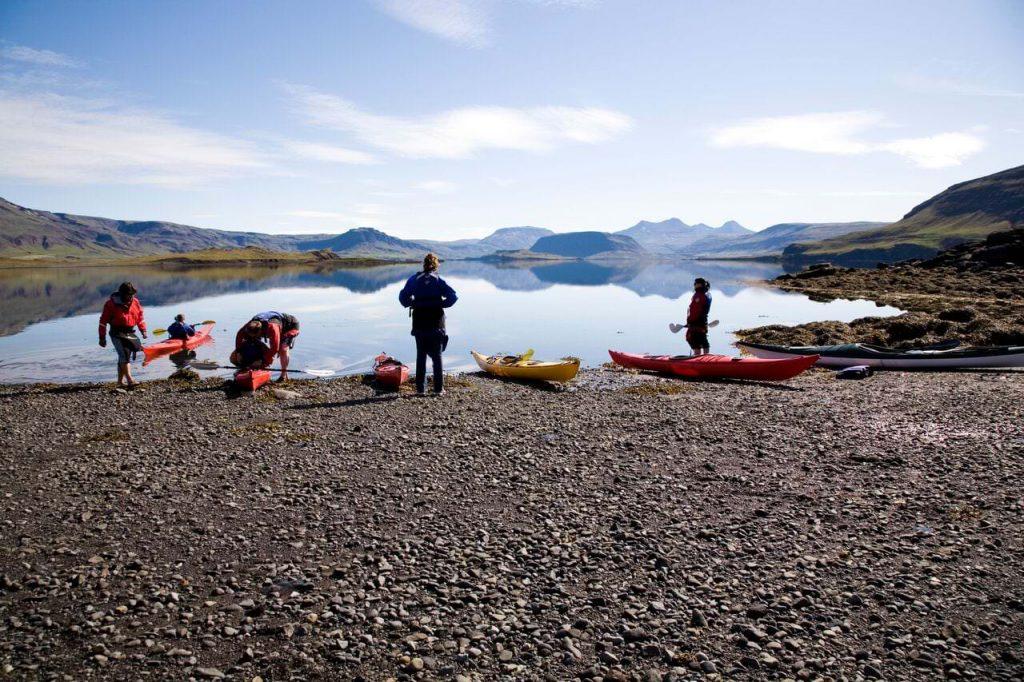 Kayaking near Reykjavik